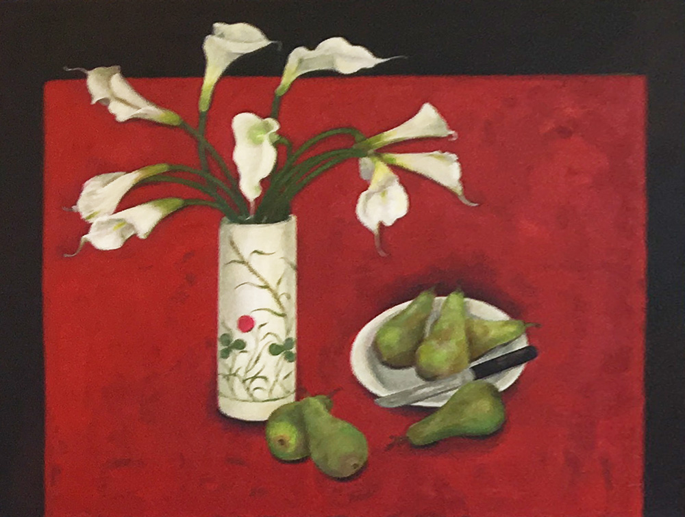Calla Lillies and Pears